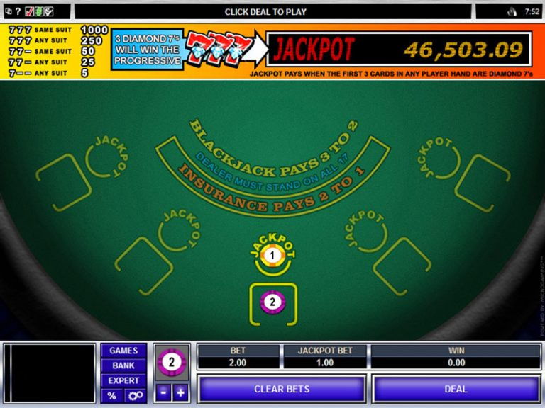 Myvegas blackjack progressive jackpot