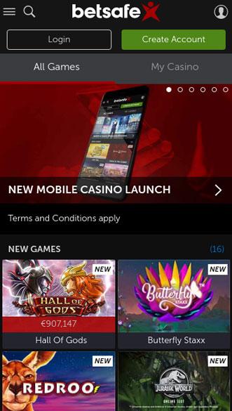 betsafe casino app screenshot