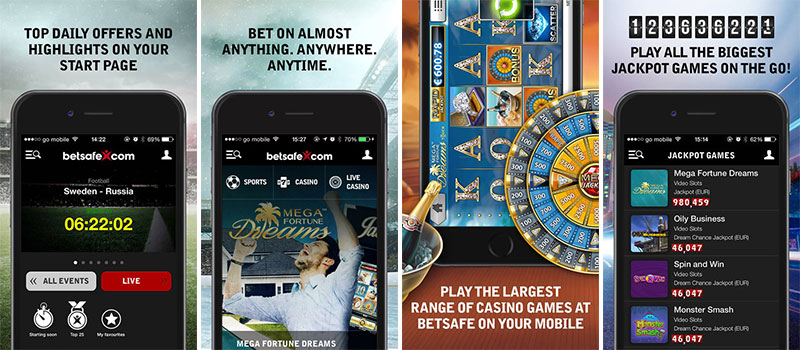betsafe casino app background