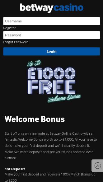 betway casino app screenshot
