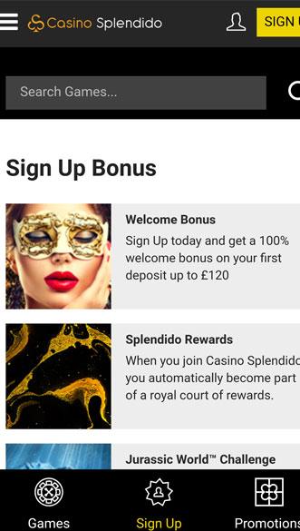 casino splendido app screenshot