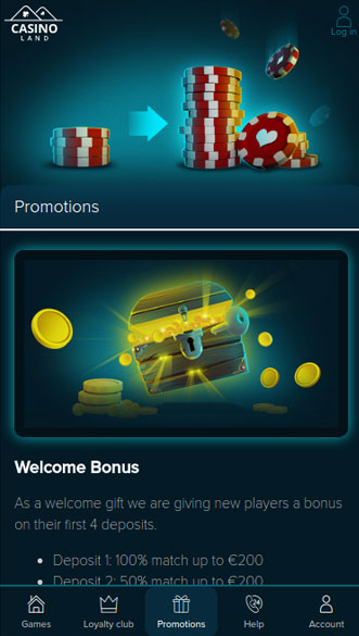 casinoland app screenshot