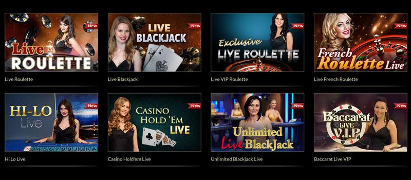 eurogrand casino live dealer screenshot