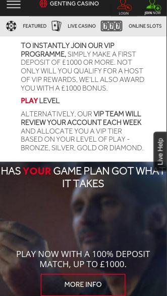 genting casino app screenshot