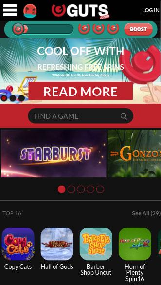 guts casino app screenshot
