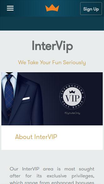 intercasino app screenshot