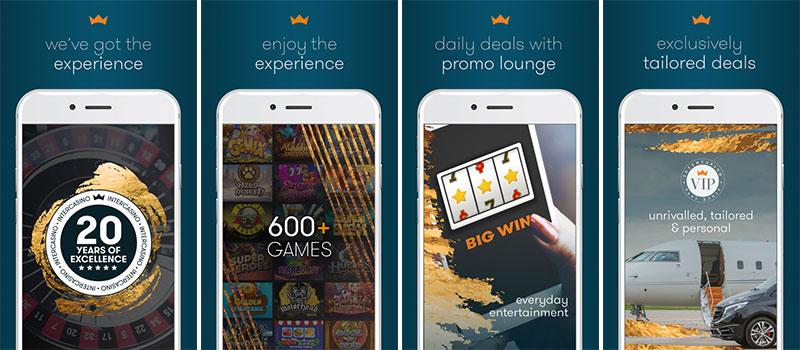 intercasino app features