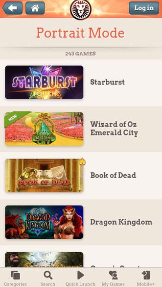 leovegas casino app screenshot