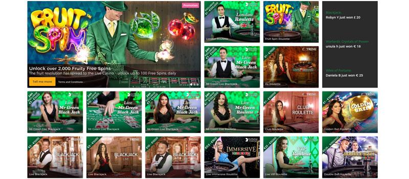 mr green casino live