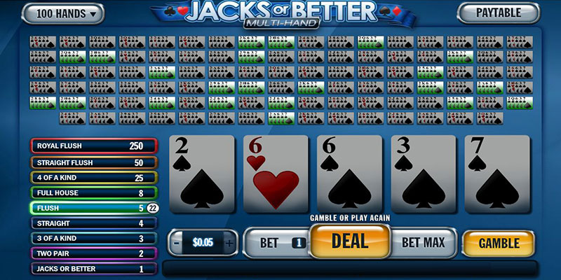 Multi-Hand Video Poker