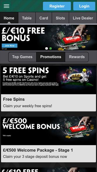 paddy power casino app screenshot