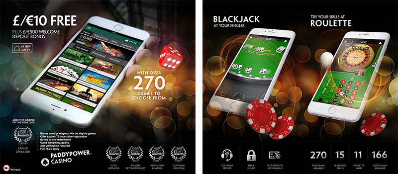 paddy power casino app features