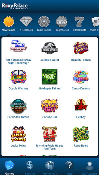 roxy palace casino screenshot
