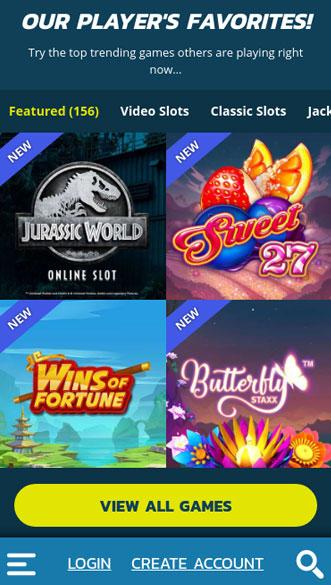 thrills casino app screenshot