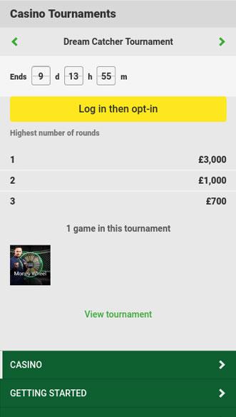 unibet casino app screenshot