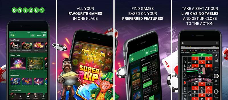 unibet casino app features