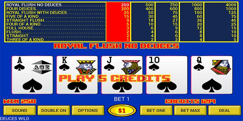 Video Poker Fun Mode