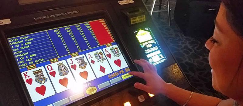 Video Poker Layout