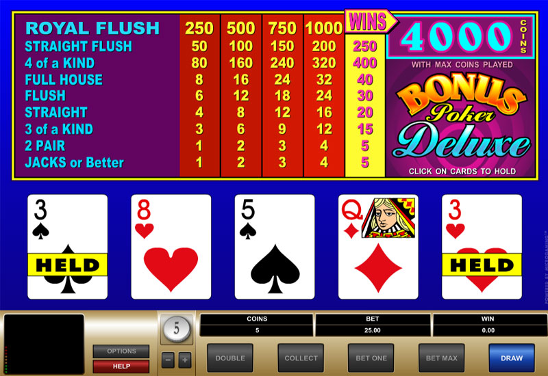 Bonus Poker Deluxe screenshot