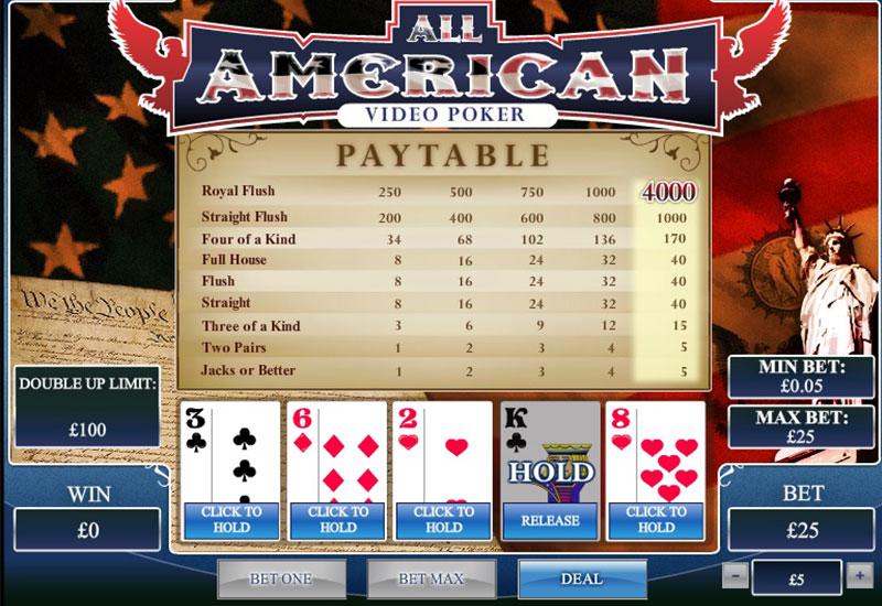 All American Poker screenshot