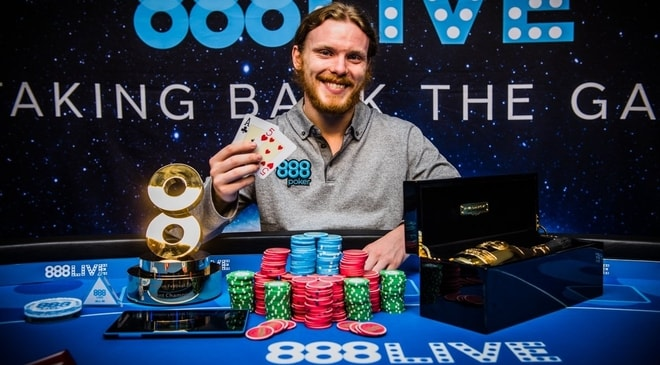 Tom Hall Takes Down 888Live Poker Festival London £1,100 Main Event