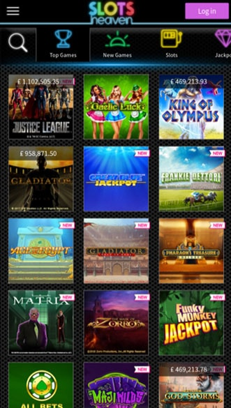 slots heaven casino app screenshot